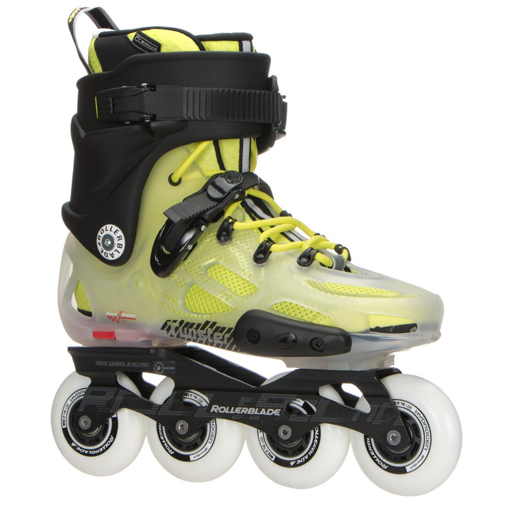 Rollerblade Twister X Urban Inline Skates 2017 - 9.0/Translucent-Fluorescent Yellow by Twister X