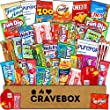 CraveBox - Care Package (40 Count) Snack Box - Variety Assortment with Chips, Cookies, and Candy - Gift Bundle with Sweet and Salty Treats for Lunches, College Students and Office Parties.