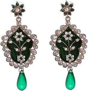 Mela Party Wear Royal Earring, Push Closure