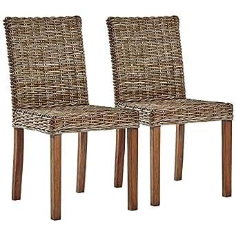 Largo Natural Kubu Gray Side Chair Set of 2