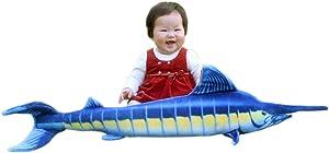 "JESONN Realistic Giant Stuffed Marine Animals Toys Soft Plush Blue Marlin,39.4"" or 100CM,1PC"