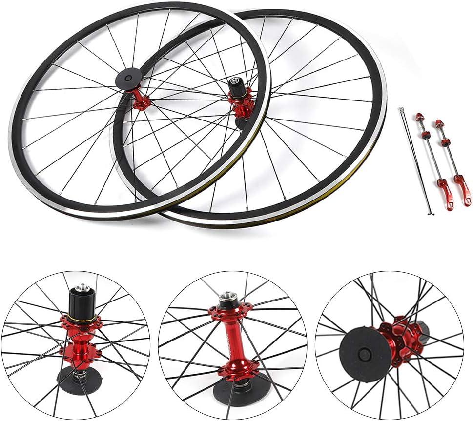Road Bike Bicycle Front Rear 7//8//9//10//11Speed Wheel Set Wheel Rim Brake C//V 700C