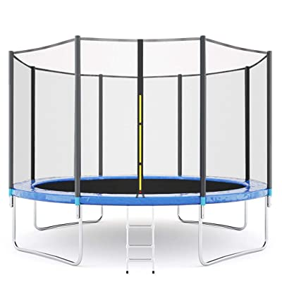 12-Foot Outdoor Trampoline with Safety Enclosure Net, Circular Trampolines for Adults/Kids to Improve Your Flexibility, Strength Joints & Bone [Ship from USA Directly] : Sports & Outdoors