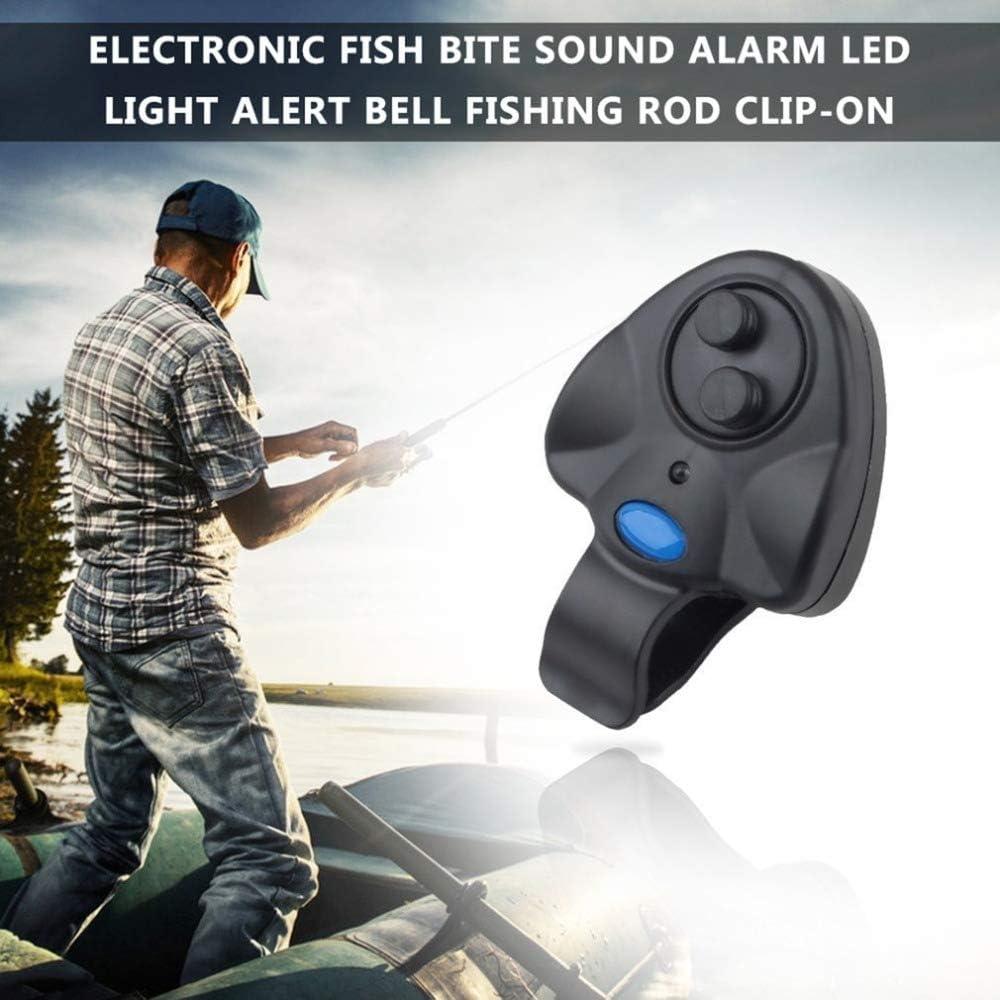 Wireless Fish Bite Alarm Sound Alert Running LED's Clip-on Fishing Tool