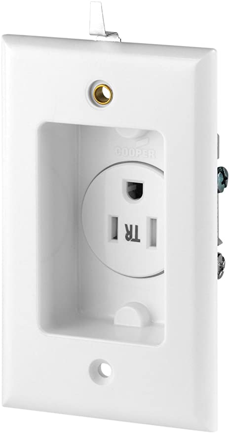Eaton TR775W-SP Tamper Resistant Single Recessed Receptacle with ...
