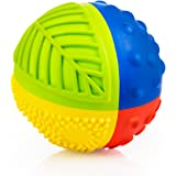 "NEW - CaaOcho Baby - 3"" Natural Rubber Sensory Ball ""Rainbow"" - BPA, Phthalates, PVC Free, Food-grade paint"