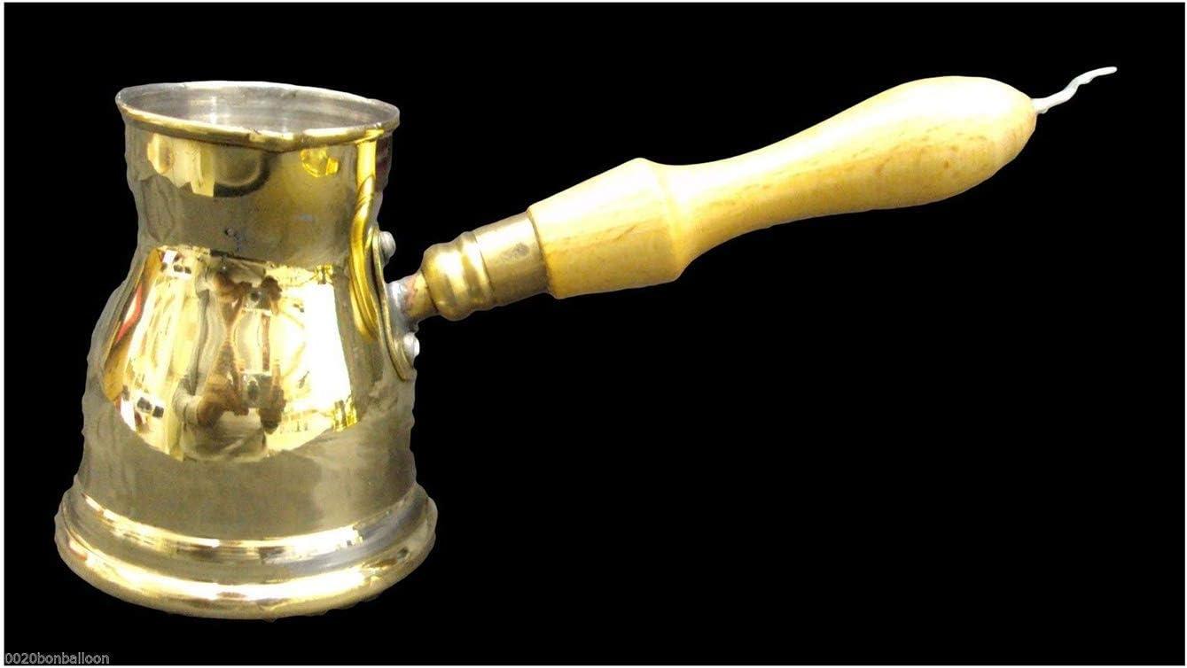 cafetera de cobre Teteras de 330 ml de caf/é con mango de aluminio Cevze turco