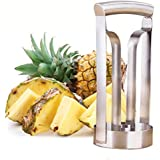 Kitchenhoney Pineapple Corer Slicer Ring Cutter Peeler Wedge Walmart- Professional Chef Cookie Products Gadgets- Large Server Stainless Steel Fruit Cutting Slicing Coring Knife