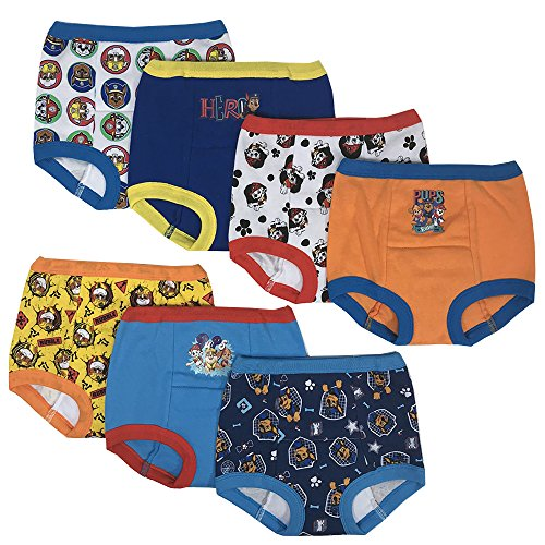 Handcraft PAW Patrol Boys Potty Training Pants Underwear Toddler 7-Pack, Assorted color Size 4T -
