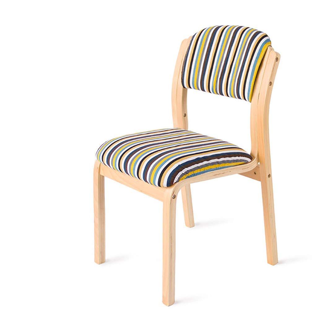 ソリッドウッド家庭用ダイニングチェア/モダンシンプルな布の机と椅子/木製のシングルコーヒーチェア/オフィスオフィスチェア   B07QP9Y8ML