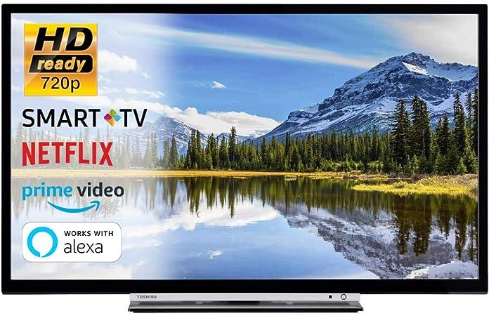Smart TV 32 Pulgadas Televisor HD Ready 720p Toshiba 32W3863DA Cinema Serie TV Dolby WiFi WLAN Conectividad Netflix You Tube: Amazon.es: Electrónica