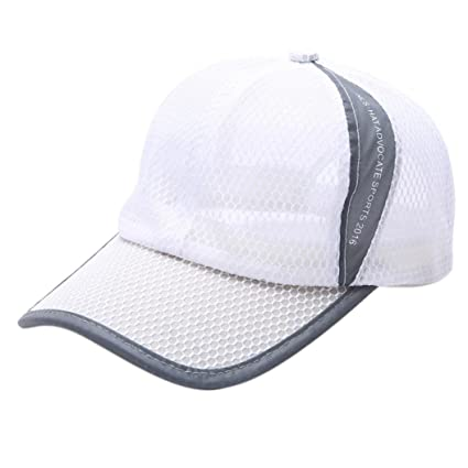 Amazon.com  Botrong Summer Breathable Mesh Baseball Cap Men Women Sport Hats  (White)  Cell Phones   Accessories b7e31850bb1f