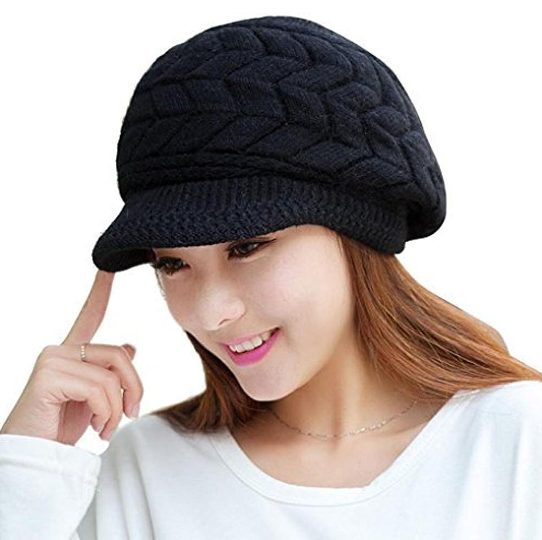 Cutecat Womens Fashion Beret Hat Autumn Winter Lady Wool Knitted Cap