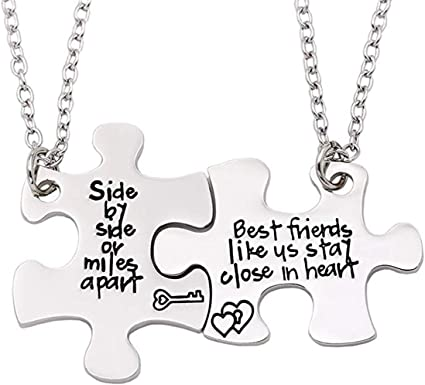 BFF jewelry Distance Necklaces Friendship Jewelry Personalize necklace set of Four Friendship Distance Personalized Keepsake SET OF 4