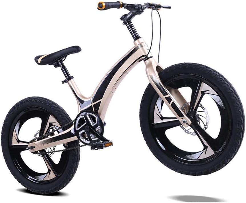 16, 18, vélos 20 Pouces, adapté aux vélos for Enfants de 4-10 Ans, Cadre intégré Alliage de magnésium, sièges réglables, garçons et Filles vélos ANJT Gold