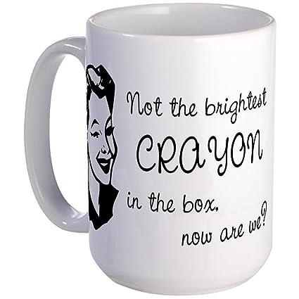 amazon com cafepress brightest crayon in the box large mug