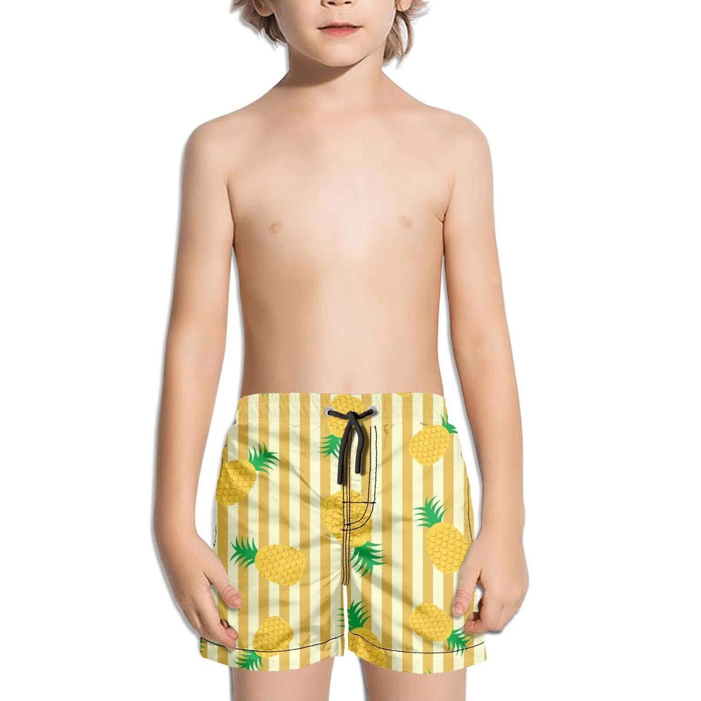 Yellow Pineapple NAIT.2 Shorts Swim for Kid Quick Dry Beach Sporty Swim Holiday Zipper