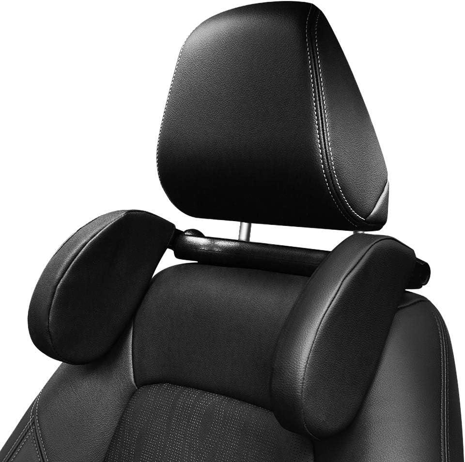 Auto Kopfstütze Nackenstütze Kinder Nackenstütze Atmungsaktiv Verstellbar Einziehbare Kopfstützkissen Für Kinder Erwachsene Schwarz Auto