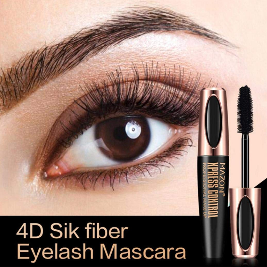 Amazon.com : Fiber Mascara Waterproof Smudgeproof Hypoallergenic Fiber Long Curling Eyelash Extension Natural Midnight Black Makeup Mascara (black) : Beauty