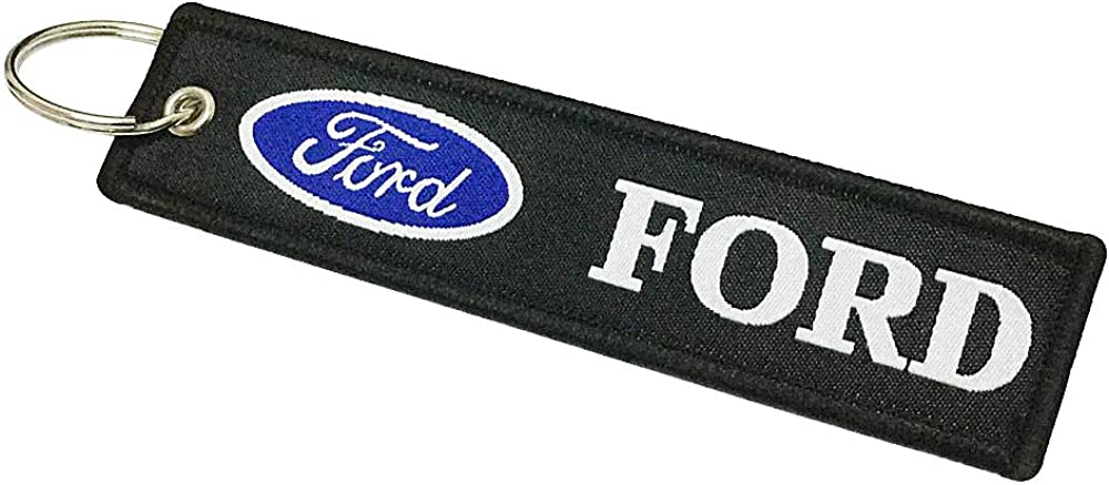 Ford Embroidered Tag Key chain for Automobile Car Racing Key Ring Accessory
