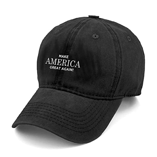 5908147c5aa Image Unavailable. Image not available for. Color  Sghyygcjs Fashion Casual  Unisex Make America Great Again Adjustable Baseball Cap Adult Denim Hat