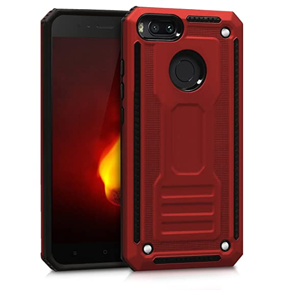 separation shoes 63e9e 50af8 kwmobile Full Armor Case for Xiaomi Mi 5X / Mi A1 - Heavy Duty Shockproof  Protective Hybrid Case Cover - Red/Black