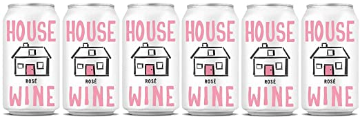 NV House Wine Rosé Can, 6Pk, 6 x 375 mL