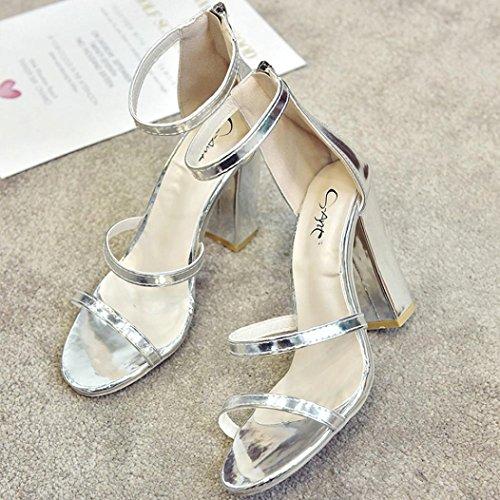 La Décontractée Club Été à SANFASHION Sandales Femme Soiree Lune Talons Printemps Femme Sandale Élégant Chaussures HTxPO