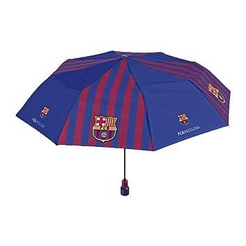 PERLETTI perletti15186 54 x 8 cm Gent Mini 3 secciones Printed FC Barcelona paraguas a prueba
