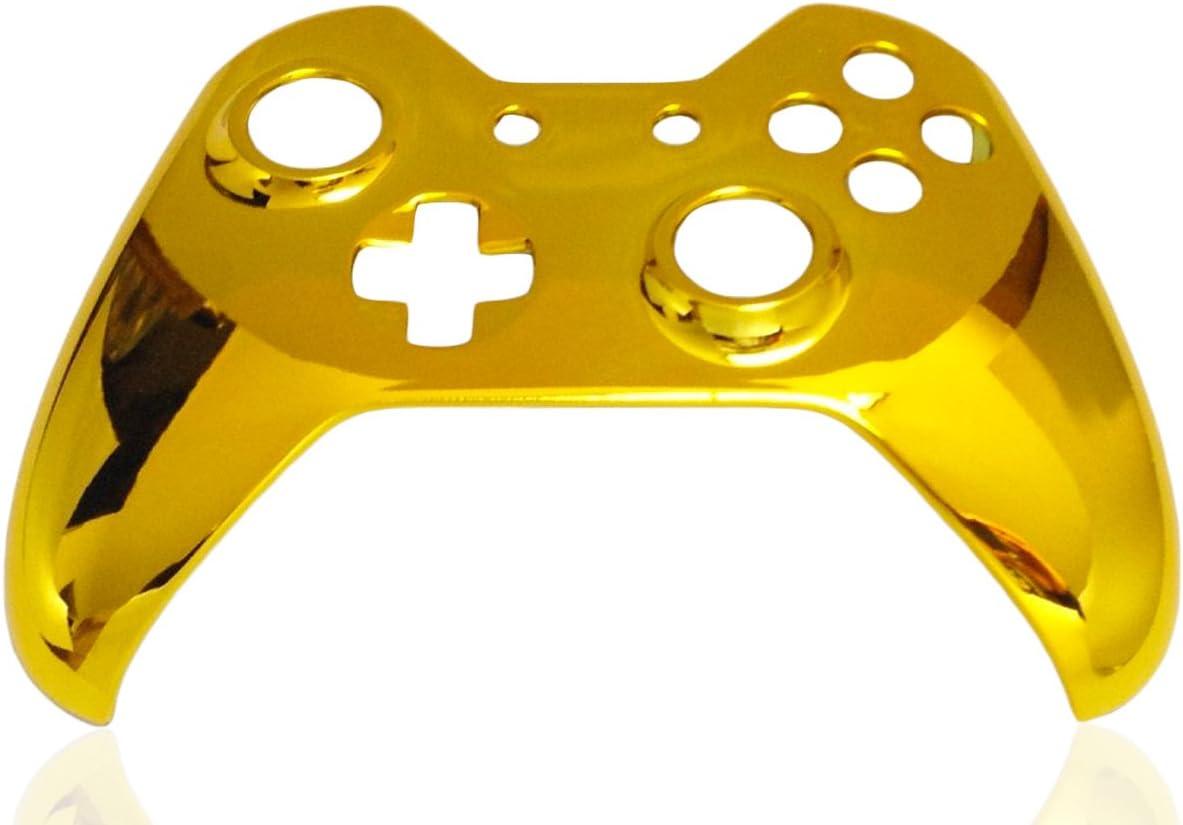 Carcasa de Repuesto para Mando de Xbox One, Carcasa Frontal cromada con Botones para Mando inalámbrico Xbox One (Dorado): Amazon.es: Electrónica