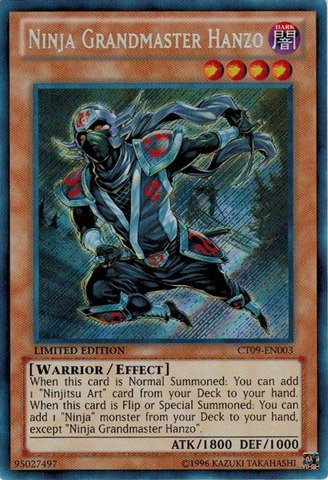 Yu-Gi-Oh! - Ninja Grandmaster Hanzo (CT09-EN003) - 2012 Collectors Tins - Limited Edition - Secret Rare
