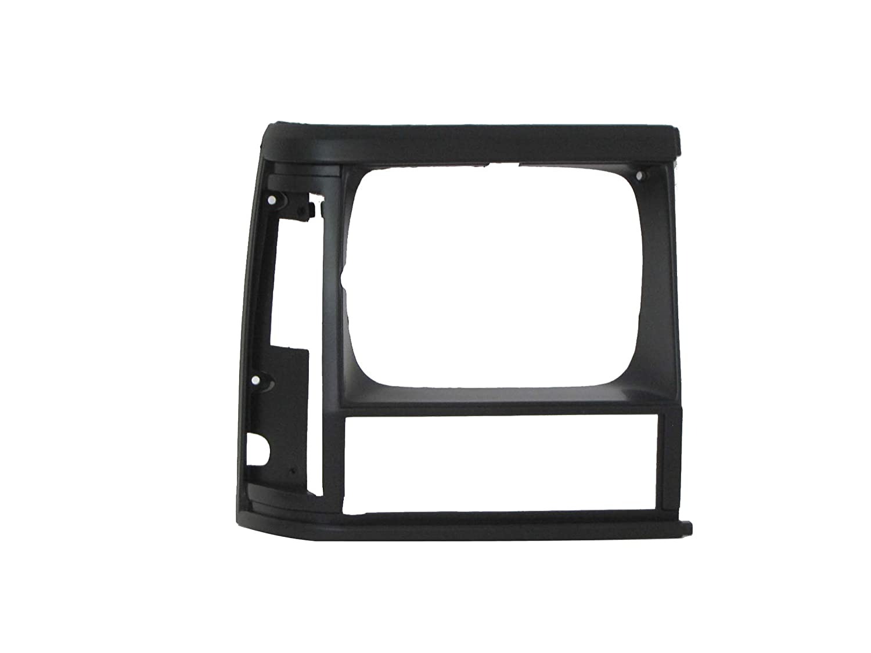 Bundle for 1984-1996 Cherokee Header Panel Grille Black Headlight Door Side Marker Park Light 8pcs