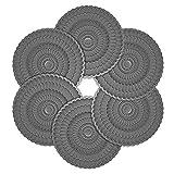 "Zanmini Silicone Coasters Set, Floral Design Silicone Glass Coasters, 6pcs/Set, 4"" Diameter"