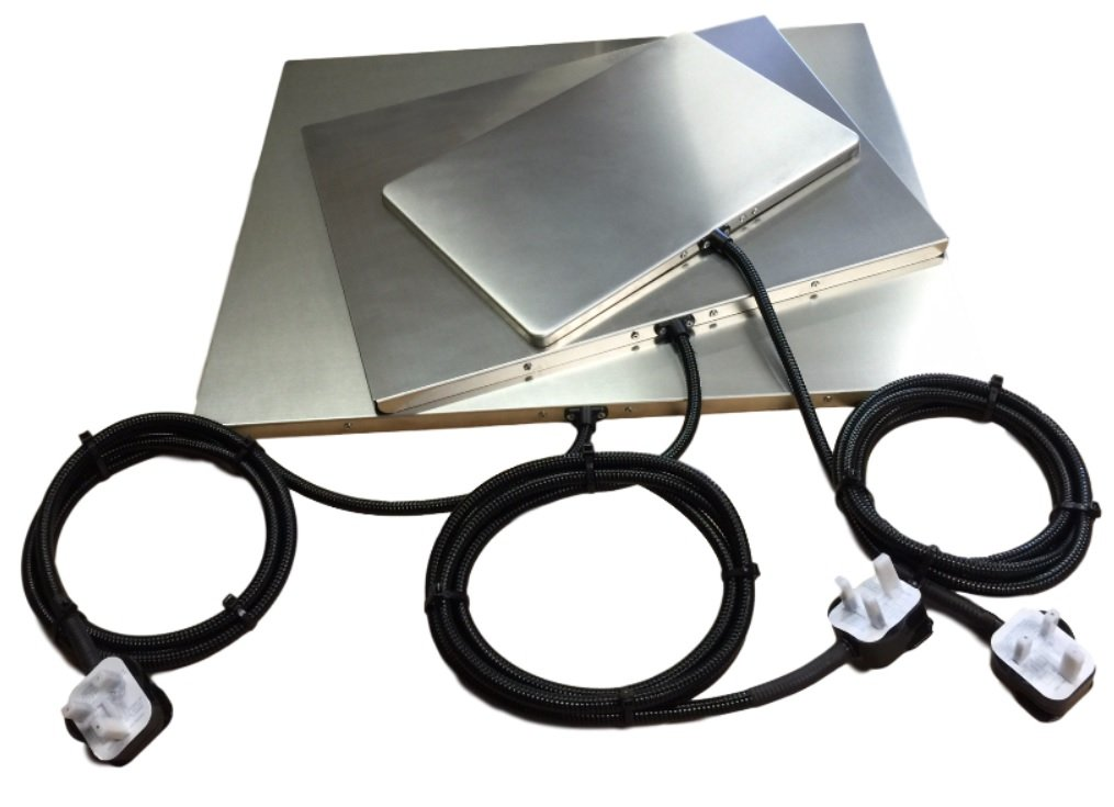 PetnapUK Flexiguard Metal Pet Heat Pad Mat, Heated Bed (US Plug Adaptor) 3 Sizes (44 x 55cm (F55)) by PetnapUK