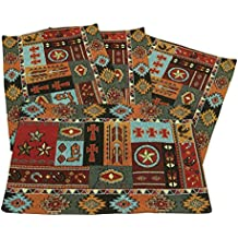 Western Life Jacquard Design Place Mats Set of 4 13x19 inches