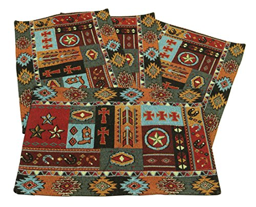 Western Life Jacquard Design Place Mats Set of 4 13x19 inches -