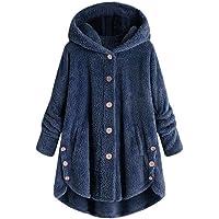 riou Mujer Sudadera con Capucha para Mujer tamaño Grande suéter para Mujer otoño e Invierno Camisa de Manga Larga…