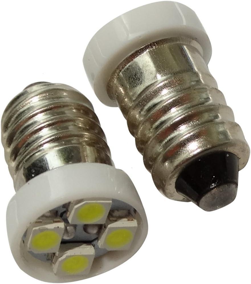 AERZETIX: 2x Bombillas E10 4LED SMD 24V luz blanco C17484