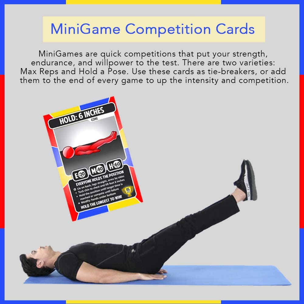 Fitness Game for All Ages Full Body Fitness Card Game with 52 Bodyweight Exercises Playout Game of Fitness