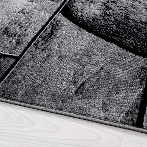 Carpet 1001 Moderner Moderner Moderner Designer Wohnzimmer Teppich mit Steinmotiv Parma 9250 Schwarz-Grau - 120x170 cm B07BPPFNB6 Teppiche & Lufer e38ed7
