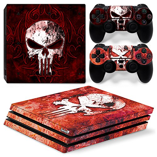 Cheap GoldenDeal PS4 Pro Skin and DualShock 4 Skin – Super Hero Punish – PlayStation 4 Pro Vinyl Sticker for Console and Controller Skin