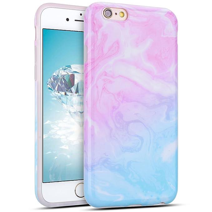2 opinioni per Cover iPhone 6 plus Custodia iPhone 6s plus Marmo Anfire Morbido Flessibile Gel