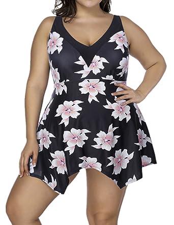 SELUXU Conjunto Bikini Mujer Dos Piezas Estampado Falda Verano ...