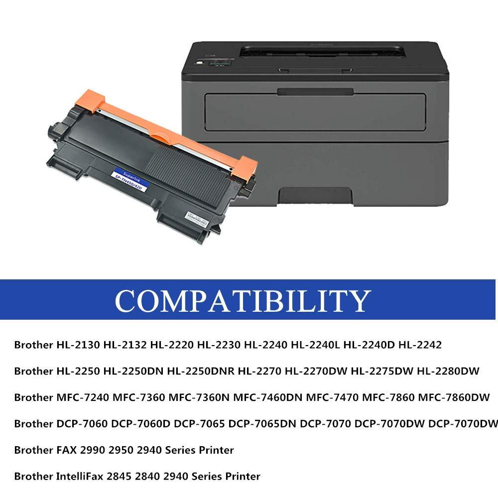 2 Pk Compatible Brother TN450 TN420 tóner láser HL 220 2230 ...