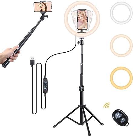 Selfie Ringleuchte Mit Stativ Ringlicht 10 Zoll Kamera