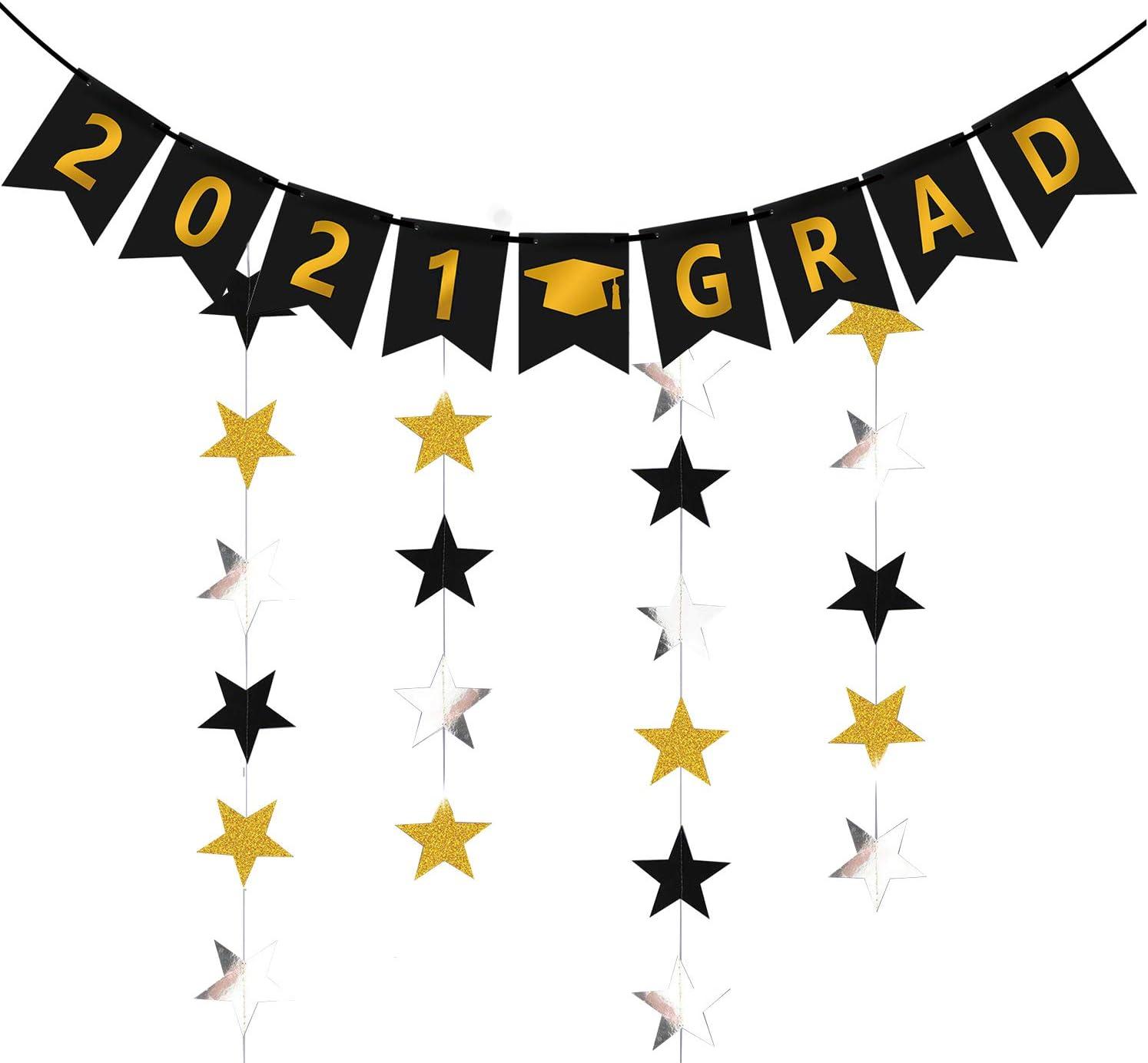 Black and Gold Graduation Graduation Party Decor 2019 Grad Banner Class of 2019 Graduation Banner Graduation Banner