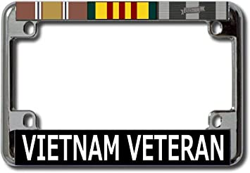 Vietnam Veteran Chrome License Plate Frame License Plates Online