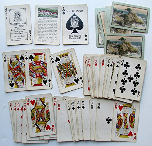 VINTAGE HOTEL DEL MONTE CALIFORNIA PLAYING CARDS DECK