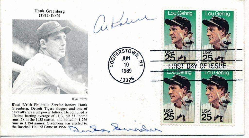Duke Snider & Al Kaline MLB HOF Signed/Autographed First Day Cover SGC 139907 MLB Cut Signatures