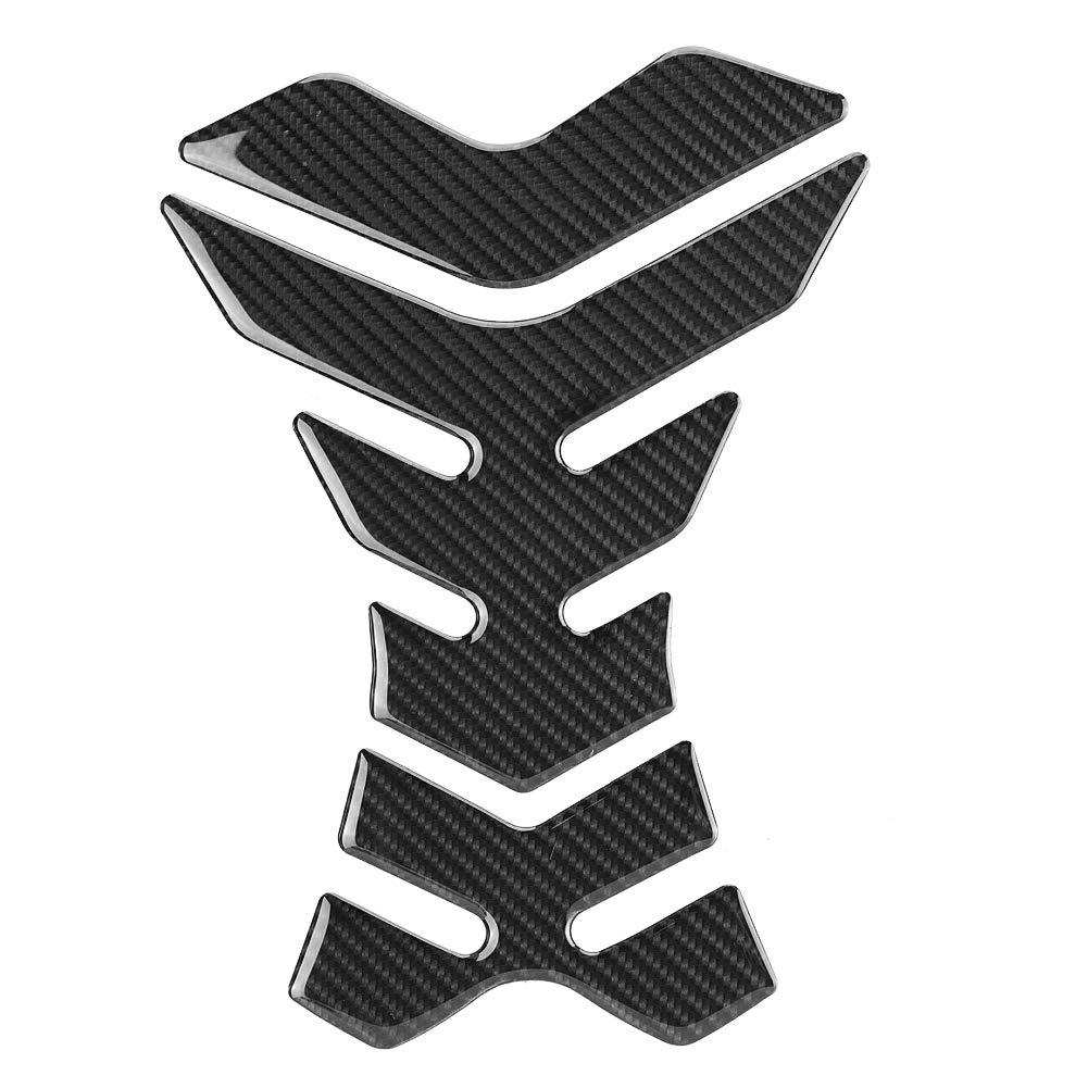 Qiilu Motos Prot/ége-r/éservoirs D/écalques dautocollants de Protection de r/éservoir de r/éservoir dessence de Carburant de Moto en Fibre de Carbone universels